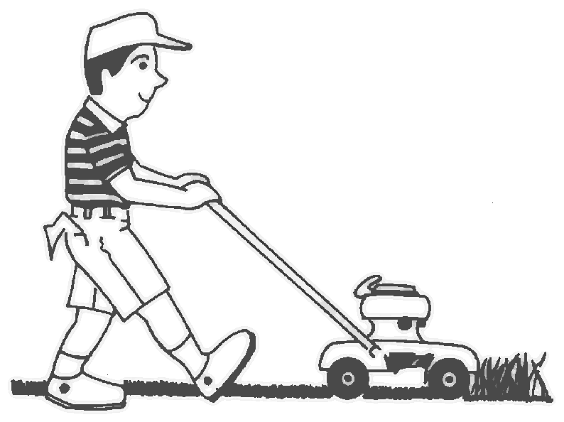 Lawn Mower Clipart Black And White Ok, so i will remove the kid