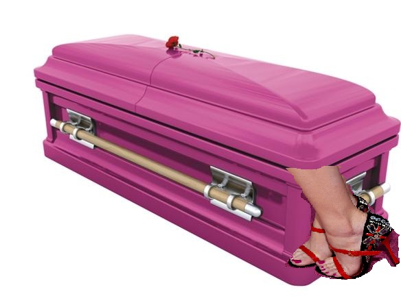 pink coffin feet out