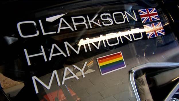 top gear rainbow flag