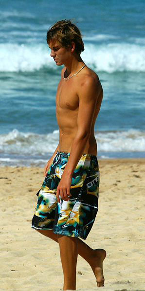 skinny dude bermuda trunks