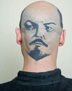 tattoo lenin head