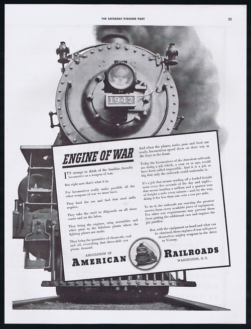 1942-Association-Of-Railroad-WWII-Locomotive-Freight-Transportation