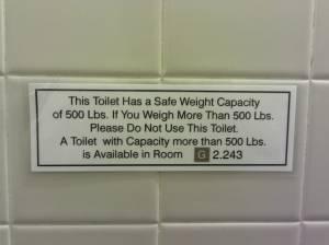 toilet capacity