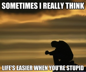 life easier when stupid