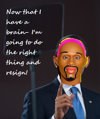 Obama-pink rodman head resign