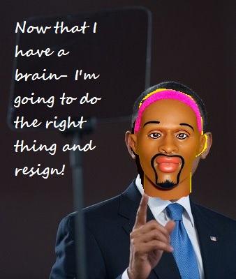 Obama-pink rodman head resign
