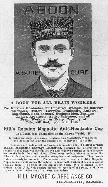 1880-1910-HillsGenuineMagneticAnti-HeadacheCap-LC-USZ62-47346