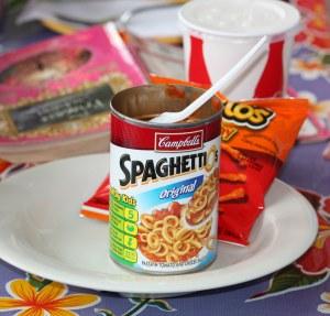 spaghettios n doritos