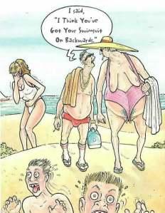 backward swimsuit