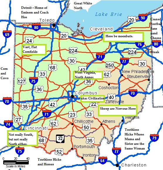new ohio map