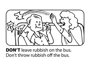 throw rubbish