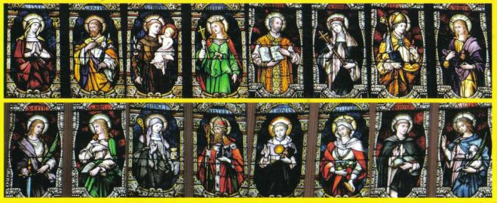 Saints in stained-glass