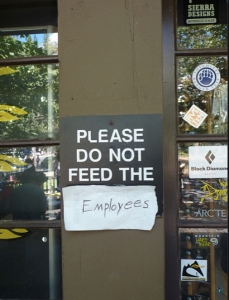 don't feed the employees