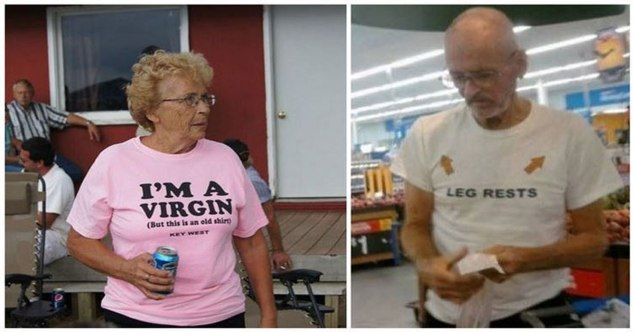 old people in bad shirts